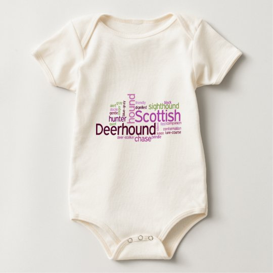 Scottish Deerhound Baby Bodysuit