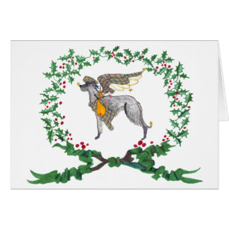 Scottish Deerhound Barking with JOY1 Greeting Cards