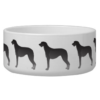 Scottish Deerhound Basic Dog Breed Silhouette Bowl