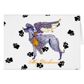Scottish Deerhound Bone Mot Greeting Card