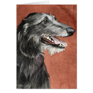 Scottish Deerhound Dog Art Greeting Card