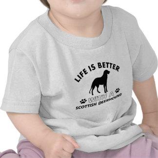Scottish deerhound dog breed designs tees