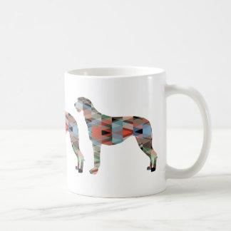 Scottish Deerhound Geometric Pattern Silhouette Coffee Mug