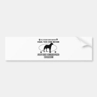 scottish Deerhound Mommy Designs Car Bumper Sticker