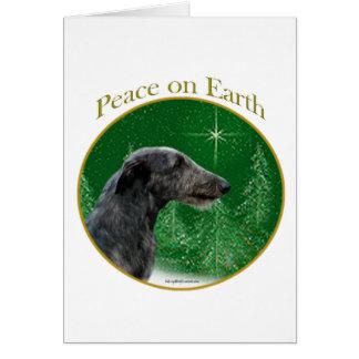Scottish Deerhound Peace Greeting Card