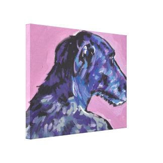 scottish deerhound Pop Art on Stretched Canvas