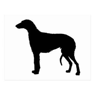 scottish deerhound silhouette postcard
