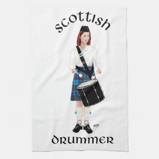 Scottish Drummer - Blue Kilt Hand Towels