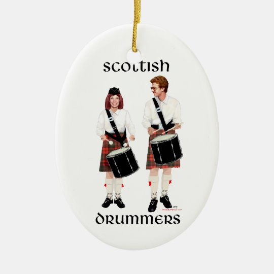 Scottish Drummers Ceramic Ornament