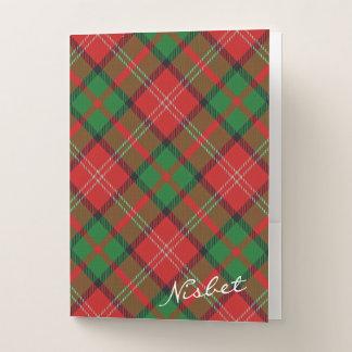 Scottish Effects Clan Nisbet Tartan Pocket Folder