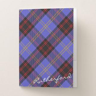 Scottish Effects Clan Rutherford Tartan Pocket Folder