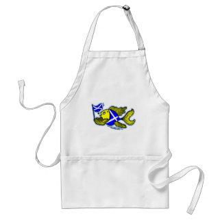 Scottish Fish with Scottish Flag Adult Apron