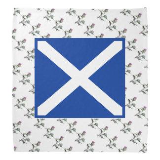 Scottish Flag and Thistle Art Bandana