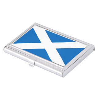 Scottish flag business card case