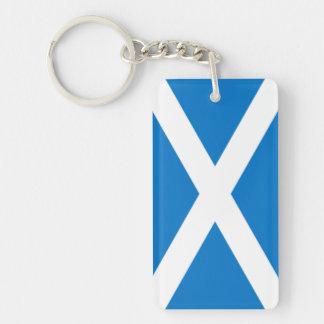 scottish flag by highsaltire keychain
