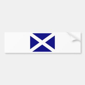 Scottish Flag clothing Car Bumper Sticker
