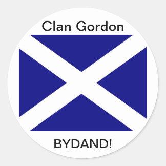 Scottish Flag clothing Classic Round Sticker