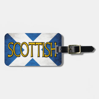 Scottish Flag Collage Bag Tag