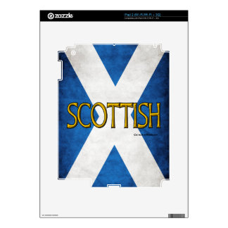Scottish Flag Collage Decal For iPad 2