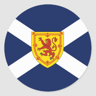 Scottish flag design classic round sticker