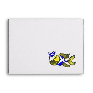 SCOTTISH FLAG FISH funny cute cartoon ENVELOPE