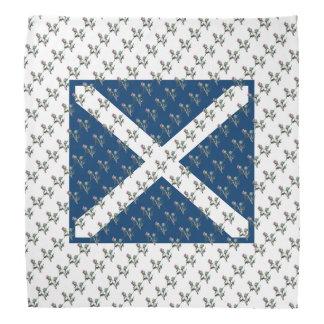 Scottish Flag Flower of Scotland Thistle Art Bandana