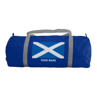 Scottish flag gym duffel bag