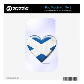 Scottish Flag Heart Collage Decals For iPod Touch 4G