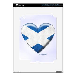 Scottish Flag Heart Collage iPad 3 Decal