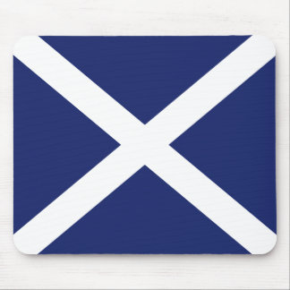 Scottish Flag Mouse Mat in Dark Blue Mouse Pad