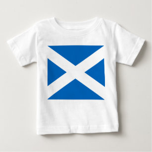 Scottish Flag of Scotland Saint Andrew's Cross Baby T-Shirt