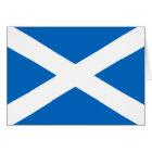 Scottish Flag of Scotland Saint Andrew's Cross Card