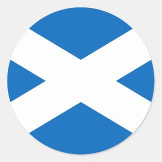 Scottish Flag of Scotland Saint Andrew's Cross Classic Round Sticker