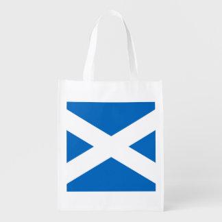 Scottish Flag of Scotland Saint Andrew's Cross Grocery Bag