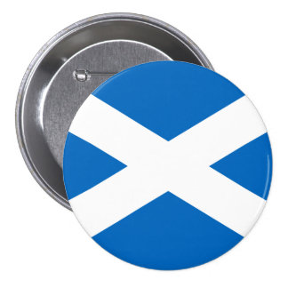 Scottish Flag of Scotland Saint Andrew's Cross Pinback Button