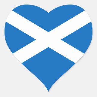 Scottish Flag of Scotland Saint Andrew's Cross Sal Heart Sticker