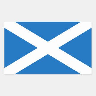 Scottish Flag of Scotland Saint Andrew's Cross Sal Rectangular Sticker