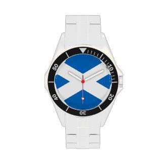 Scottish Flag of Scotland Saint Andrew's Cross Wristwatches