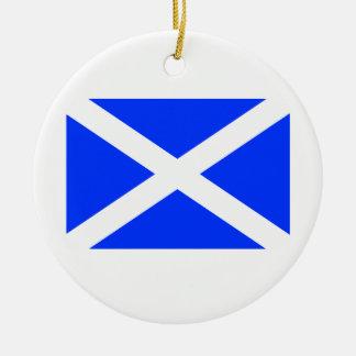 Scottish Flag Christmas Ornament
