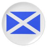Scottish Flag Plates