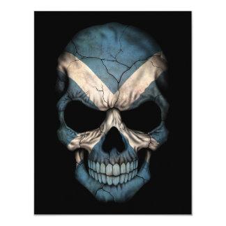 Scottish Flag Skull on Black Card