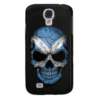 Scottish Flag Skull on Steel Mesh Graphic Samsung S4 Case