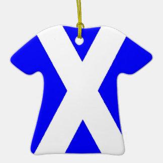 Scottish Flag T-Shirt Ornament
