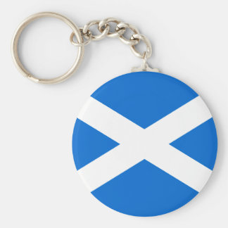 Scottish Flag T-shirts and Gifts Basic Round Button Keychain