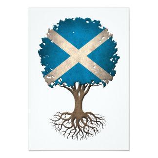 Scottish Flag Tree of Life Customizable Card