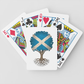 Scottish Flag Tree of Life Customizable Bicycle Playing Cards