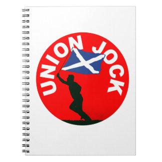"Scottish flag, ""Union Jock"" Notebook"