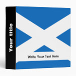 Scottish flag vinyl binder