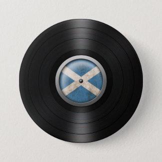 Scottish Flag Vinyl Record Album Graphic Button