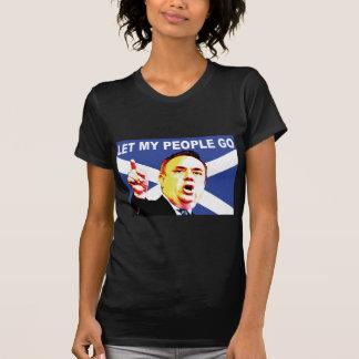 Scottish flag with Alex Salmond T-Shirt